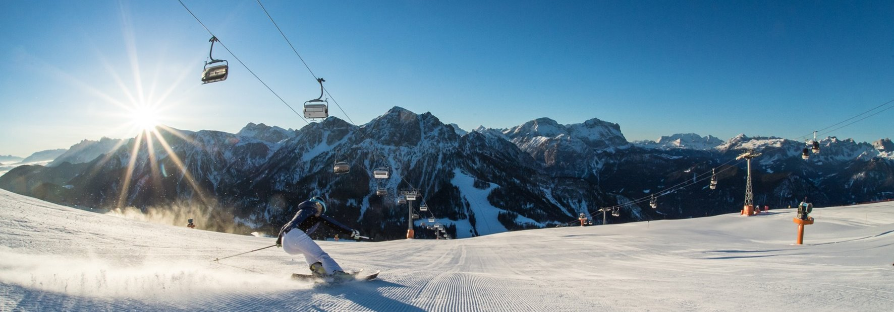 View over Mt. Kronplatz – first-class skiing area & magnificent panoramic mountain